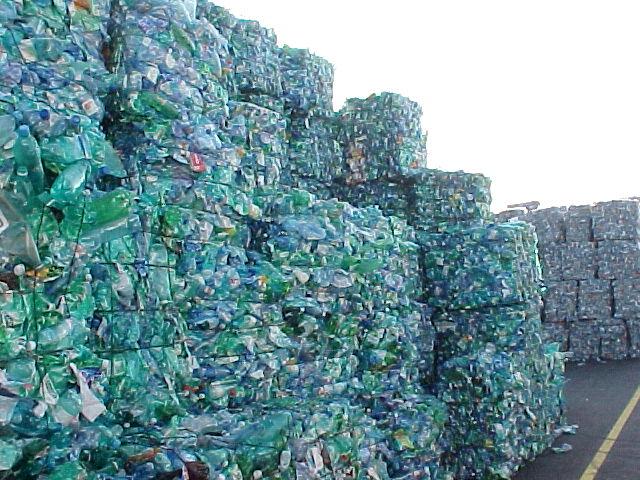 Bales Crushed PET Bottles
