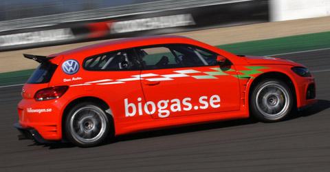 biogas-powered vehicle