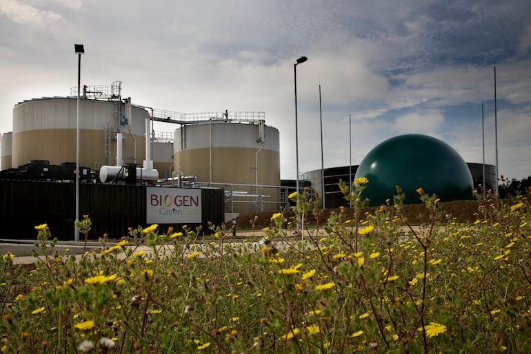 Food waste AD plant