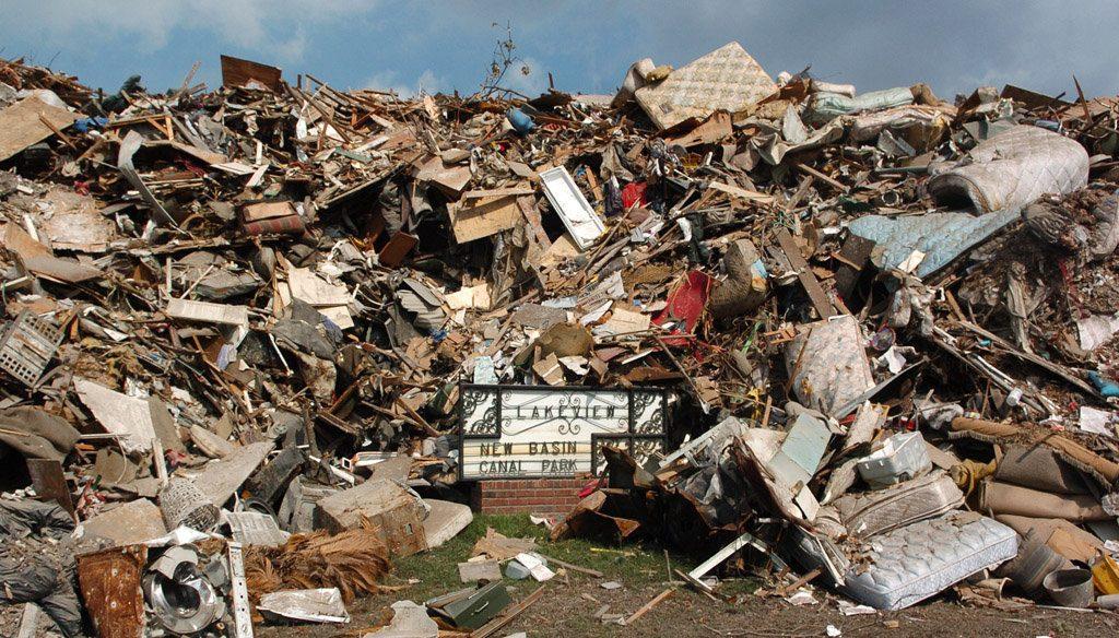 natural disaster debris