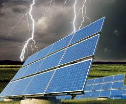 lightening solar panels