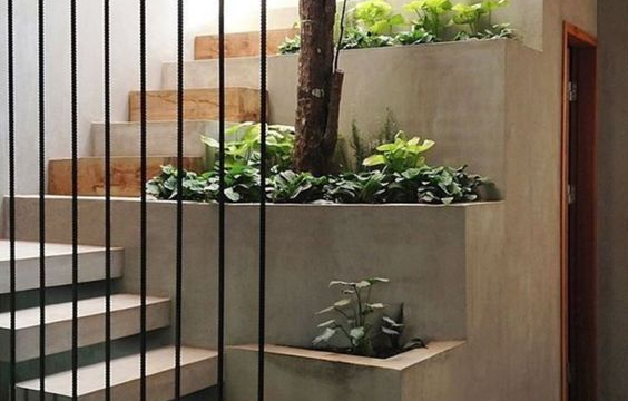 outdoor stairway touch of nature