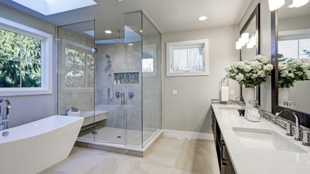 natural stone countertop bathroom