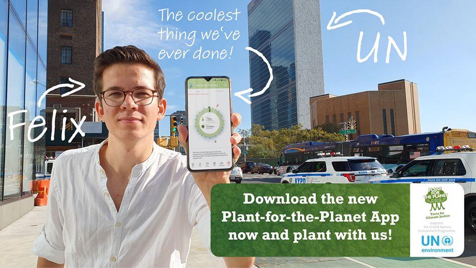 founder Felix Finkbeiner with app