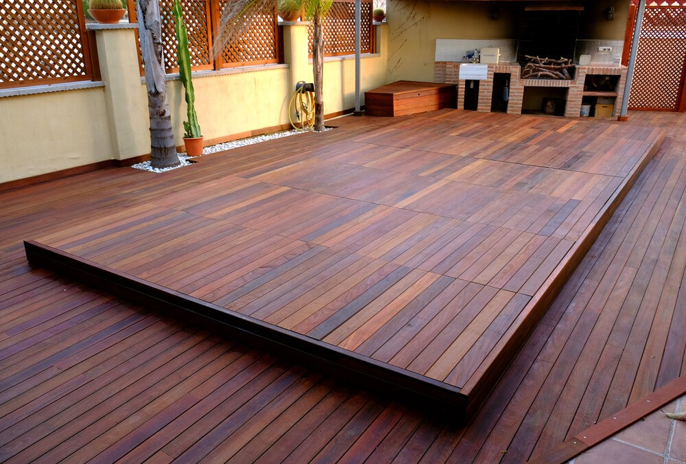 sliding deck to cover above ground pool