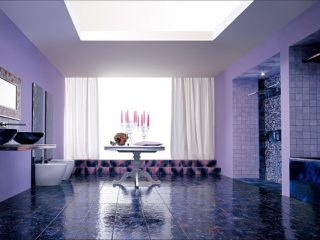 purple tiles for home